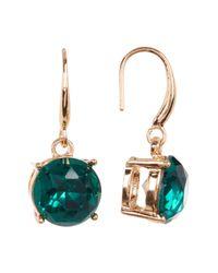 Joe Fresh - Green Prong Faceted Crystal Drop Earrings - Lyst