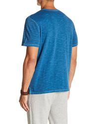 Wallin & Bros. - Blue Crew Neck Slub Pocket T-shirt for Men - Lyst