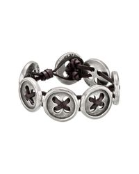Uno De 50 - Brown Travelling Kit Leather Button Bracelet - Lyst