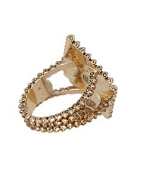 House of Harlow 1960 - Metallic Central Highlands Pyramid Ring - Size 8 - Lyst