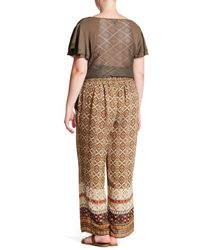 Breathless - Multicolor Printed Wide Leg Pants (plus Size) - Lyst