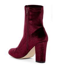 Madden Girl - Red Fantaysa Velvet Boot - Lyst