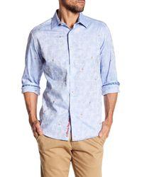 Robert Graham - Blue Ballast Classic Fit Print Woven Shirt for Men - Lyst