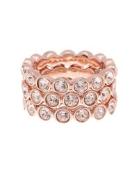 Givenchy | Multicolor Crystal Stack Rings - Set Of 3 | Lyst