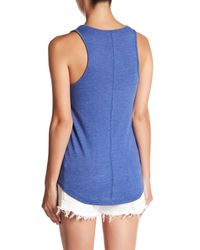 Alternative Apparel - Blue Backstage Scoop Neck Tank - Lyst