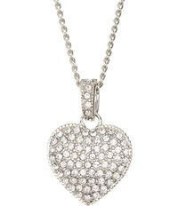 Judith Jack | Metallic Reversible Pave Heart Necklace | Lyst