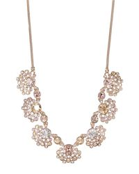 Givenchy | Metallic Floral Crystal Necklace | Lyst