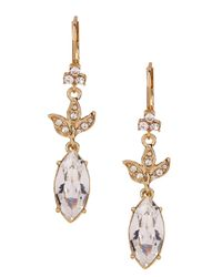 Marchesa | Metallic Stone Drop Earrings | Lyst