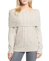 Chelsea28 - White Off The Shoulder Sweater - Lyst