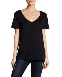 Michael Stars - Black Relaxed V-neck Tee - Lyst