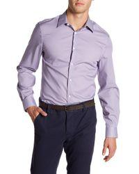 Perry Ellis - Purple Slim Fit Long Sleeve Woven Shirt for Men - Lyst