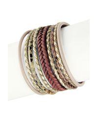 Saachi   Multicolor Braided Multi-cord Genuine Leather Bracelet   Lyst