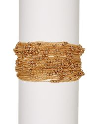 Saachi - Metallic Beaded Chain Bracelet - Lyst