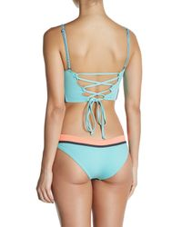 Maaji   Blue Paleturquoise Timbers Hipster Cut Reversible Bikini Bottom   Lyst