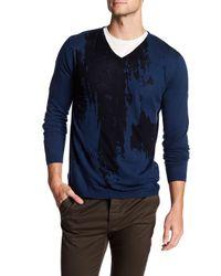 Autumn Cashmere - Blue Inked Thermal V-neck Shirt for Men - Lyst