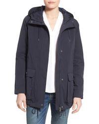 Levi's | Blue Hooded Swing Jacket | Lyst