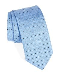 Eton of Sweden - Blue Dot Silk Tie for Men - Lyst