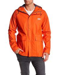 Helly Hansen   Orange Lerwick Rain Jacket for Men   Lyst