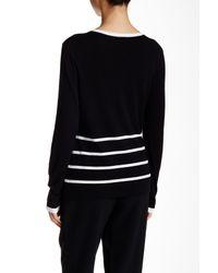 Basler - Black Printed Cardigan - Lyst