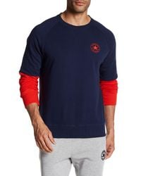 Converse - Blue Colorblock Sweatshirt for Men - Lyst