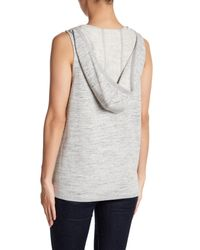 BB Dakota - Gray Bella Hooded Vest - Lyst