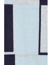 Anne Klein - Blue Oversized Jacquard Geometric Colorblock Muffler - Lyst
