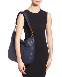 Marc Jacobs - Blue Gotham Pebbled Leather Hobo Bag - Lyst