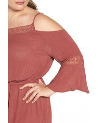 Glamorous - Red Cold Shoulder Romper - Lyst