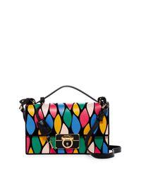 Ferragamo | Multicolor Aileen Leather Crossbody | Lyst