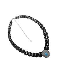 Carolyn Pollack - Multicolor Sterling Silver Black Agate & Turquoise Necklace - Lyst
