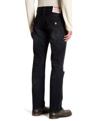 True Religion - Blue Straight Jean With Flap Pockets for Men - Lyst