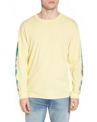 Obey Yellow New World Ii Pigment T-shirt for men