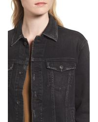 AG Jeans - Multicolor Nancy Distressed Denim Jacket - Lyst