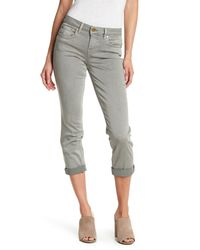 Level 99 - Gray Rosey Rolled Up Cropped Jeans - Lyst