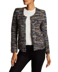 IRO - Gray Boucle Knit Jacket - Lyst