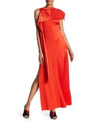 Diane von Furstenberg - Red Shoulder Sash Gown - Lyst