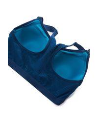 Wacoal - Blue Zip Front Underwire Sports Bra (regular & Plus Size) - Lyst