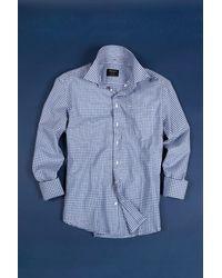 Boga - Blue Gingham Long Sleeve Modern Fit Shirt for Men - Lyst