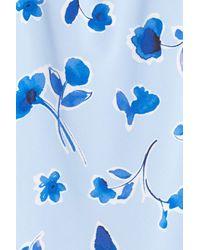 Oscar de la Renta - Blue Floral Print Chemise (plus Size) - Lyst