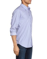 Jeremy Argyle Nyc - Blue Slim Fit Mini Check Sport Shirt for Men - Lyst