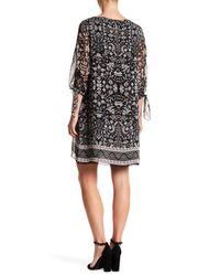 Max Studio - Black Split Sleeve Dress - Lyst