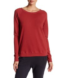 Soft Joie | Red Crew Neck Solid Pullover Sweatshirt | Lyst