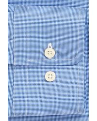 David Donahue | Blue Trim Fit Texture Dress Shirt for Men | Lyst