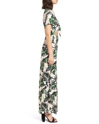 Lush - Green Cutout Tie Front Maxi Dress - Lyst