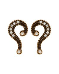 Marc Jacobs - Metallic Question Mark Mismatched Stud Earrings - Lyst