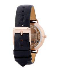 MICHAEL Michael Kors - Black Women's Jaryn Croc Embossed Leather Watch - Lyst