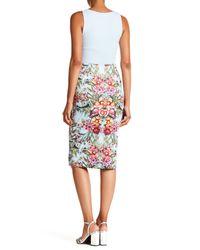 Eci - Multicolor Floral Midi Skirt - Lyst