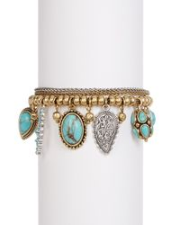 Lucky Brand | Multicolor Turquoise Charm Bracelet | Lyst
