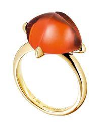 Baccarat | Metallic Medicis Gold Vermeil Prong Set Crystal Ring - Size 6.5 | Lyst