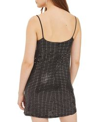 TOPSHOP - Metallic Disco Sequin Slipdress - Lyst